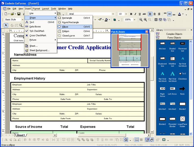 Click to view GeForms 1.8 screenshot