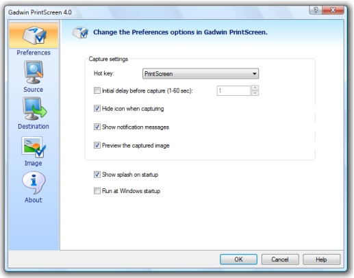 Gadwin PrintScreen v4.7 Screenshot