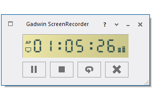 Gadwin Screen Recorder allows you to capture cursor movements, menu selections, pop-up windows, layered windows, typing, sounds and everything else you see on your screen.
